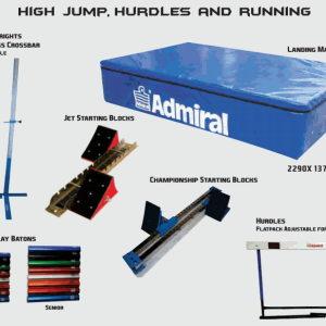 Athletics High Jump, Hurdles, Running