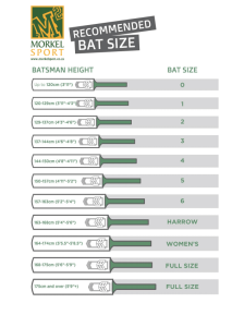 Cricket Sizing Chart