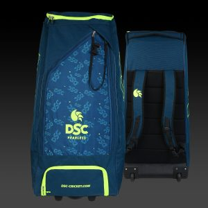 DSC Condor Pro Duffle Wheeler Polyester Cricket Kit Bag (Green) Senior