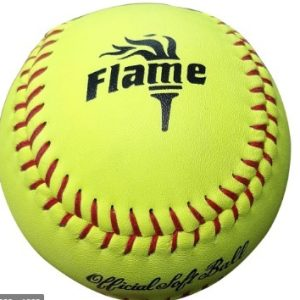 FLAME YELLOW 12″ LEATHER MATCH BALL